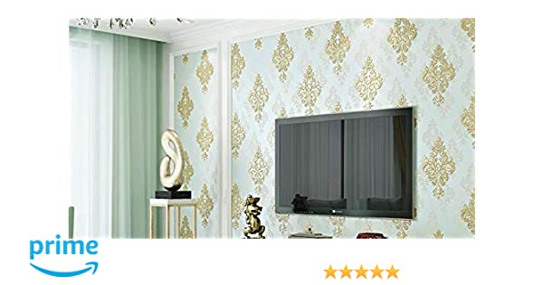 Eurotex Textured Vinyl PVC Coated 3D Damask Wallpaper for Wall Decoration (57sqft/Per roll)61054: Amazon.in: Home Improvement