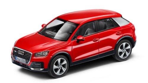 D'origine Audi Q2modèle voiture 1: 43Herpa Tang orot Rouge