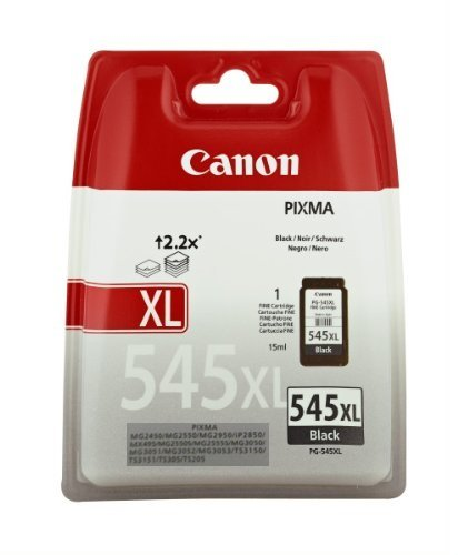 Canon PG 545XL Cartucho de tinta original Negro XL para Impresora de Inyeccion de tinta Pixma TS3150 TS3151 MX495 MG2450 MG2550 MG2550S MG2555S MG2950 MG3050 MG3051 MG3052 MG3053 IP2850