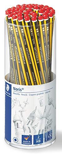 Staedtler crayons à papier Noris, haute qualité, extrêmenent résistant au bris, pour lécriture et le dessin, pot de 50, 120 KP50