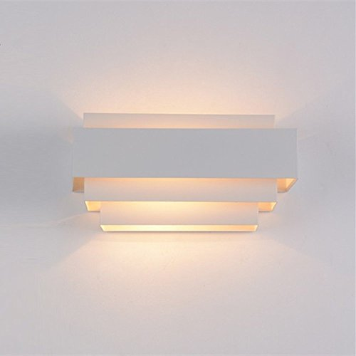 Lightess Modern LED Wall Light Up And Down Wall Lights Wall Lamp E27  Perfect For Living Room Lights Bedroom Lamps LED Night Light, Warm White( Light Bulb ...