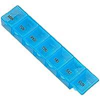 Tragbare 7 Gitter wöchentliche Medizin Pill Box Tragbare Größe Reisemedizin Halter Tablet Aufbewahrungskoffer... preisvergleich bei billige-tabletten.eu