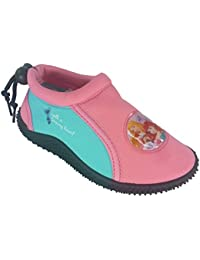 Zapatillas Princesas Disney con goma antideslizante para el agua, con agarre por detrás.