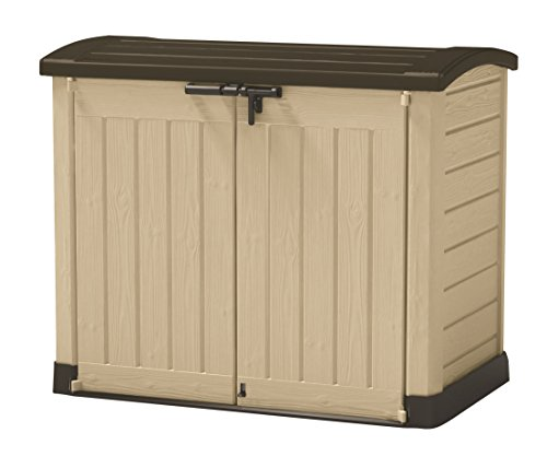 keter porta attrezzi store it out arc beige in resina cm 146x82x120 h