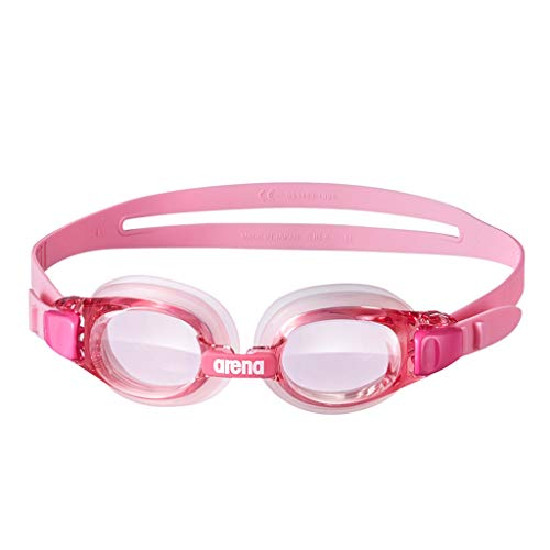 TLTLYYJ Schwimmbrillen für Kinder, Jungen und Mädchen. Wasserdichte und Anti-Fog-HD-Brillen mit großem Rahmen empfohlen (2-16). Die Position der Kinderspitze kann eingestellt Werden (Farbe : Pink)