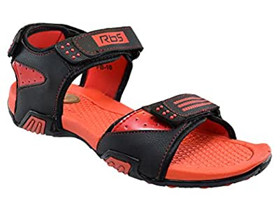 02597e23a JNG RBS Men Black Red Sandal - Size 10 UK  Buy Online at Low Prices ...