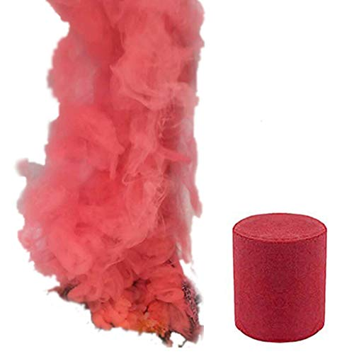 MA87 Smoke Cake Colorful Smoke Effect Show Round Bomb Stage Photography Aid  Toy Gifts (Red)