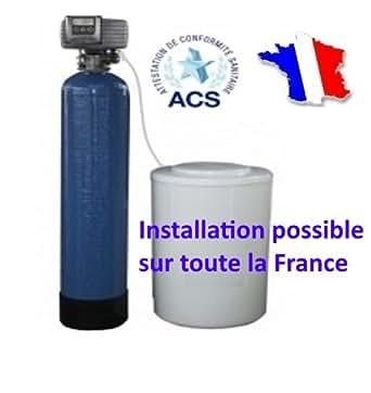 Adoucisseur d'eau FLECK Bi bloc 20 litres