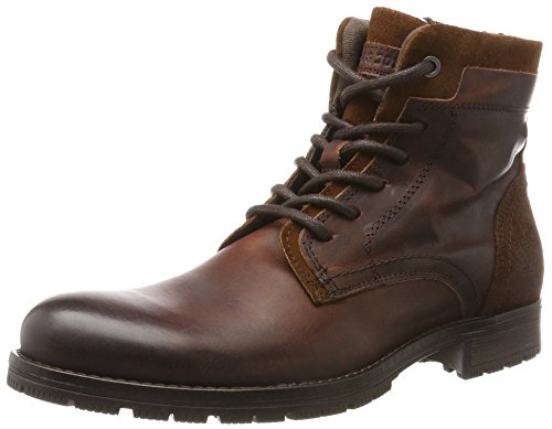 JACK & JONES Herren Jfwhanibal Leather Brown Stone Klassische Stiefel, Braun (Brown Stone), 44 EU (Wildleder Leder Schuhe Boot)