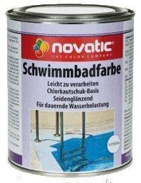 Novatic Schwimmbadfarbe, Blau 750ml