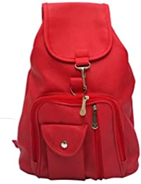 Vintage Stylish Synthetic School / College Backpack Bag For Girls (Bag R 124)