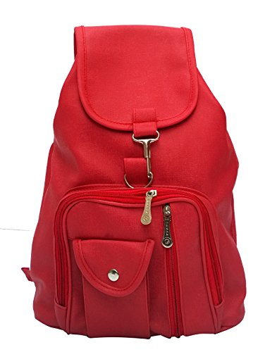 Vintage Girl's Backpack Handbag (Red,Bag 124)