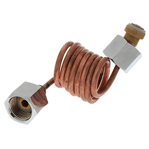 FLAMEER Aquarium Pressluftflasche Sauerstoffflasche Verbindungsrohr Konverter Adapter Verbindung Zubehör Fitting