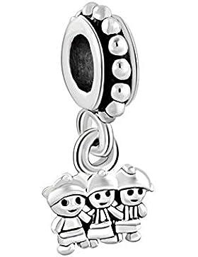 uniqueen Drei Mädchen Baby Spacer baumeln Perlen für Charm Armband