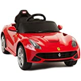 Flying Gadgets Licensed Ferrari F12 Ride-On-Car for Children with Remote Control (RC) for Override, Working Sounds & Lights - RED
