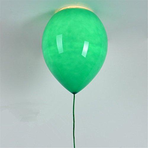 der platz,Glas lampenschirm,party, bar, festival - Der Ballon deckenleuchte,1 X E14,40W (grün) Ø 15 cm (Party Store Brighton)