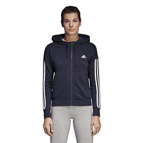 adidas Damen Essentials 3-Streifen Full-Zip Hoodie Legend Ink/White