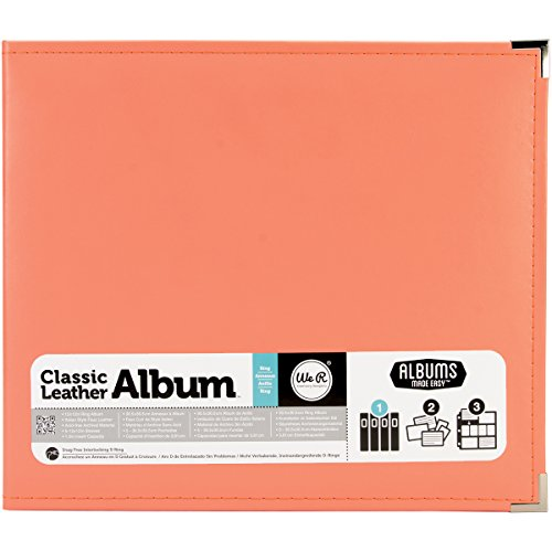Memory Album Scrapbooking (We R Memory Keepers American Crafts 660906Classic D-Ring Scrapbooking Album, 12Zoll x 12Zoll, Coral)