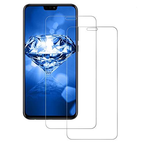 DOSNTO Panzerglas Schutzfolie für Huawei Honor 8X [2 Stück] [9H Härte] [Anti-Kratzer] [Wasserdicht] [Blasenfrei] [HD Klar], Honor 8X Panzerglas panzerfolie Screen Protector