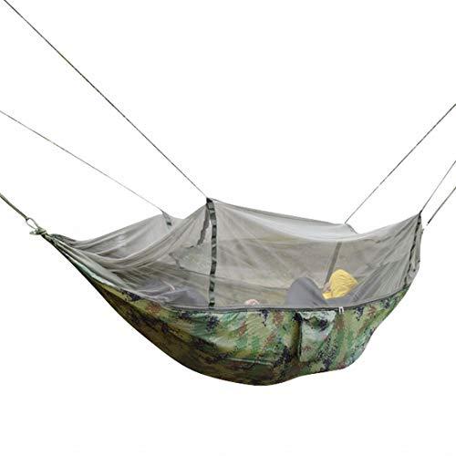 Kamiwwso Doppelte Tarnung Fallschirm Tuch Hängematte High-End Doppelhängematte Outdoor Indoor Doppel Camping Hängematte - leichte tragbare Nylonhängematte, Fallschirm Doppel Hängematte für Backpacking - High-end-outdoor-möbel