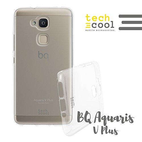 TechCool BQ Aquaris V Plus/VS Plus Hülle SchutzHülle Premium Soft Flex TPU Silikon Transparent für BQ Aquaris V Plus/VS Plus l Case Cover Handy [Ultra Dünn 1,5mm] [Kratzfest] (Klar)
