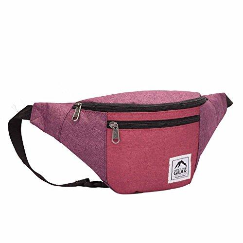 Outdoor-Ausrüstung wasserdichte Jacquard Gürteltasche Hüftreisetasche Festival - Lila und Pink Lila und Pink