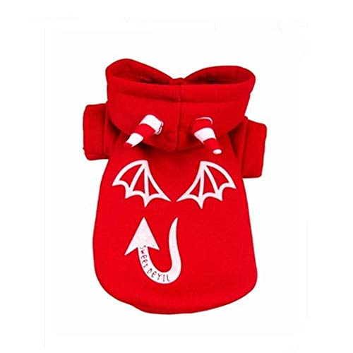 LovelyPet Kleidung for Haustiere Halloween Night Light Devil Coat Puppy Dog Kleidung (Color : Red, Size : S)