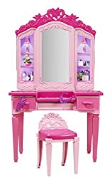 Toycentre Barbie Princess Power Superhero Vanity Playset & Barbie Doll, Multi Color