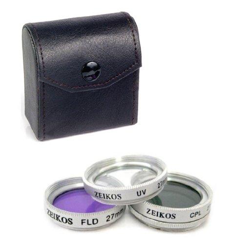 Set mit 3 Filtern Zeikos Durchmesser 27 mm für Digitalkamera und Camcorder: UV, Polfilter und FL-D Leuchtstofflampe