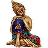 [Sponsored]Metaldecor Collectible Figurine Of Lord Buddha Idol India Decor Brass Statue Decorative Showpiece In Brass Metal
