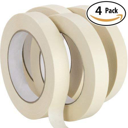 Ayat Premium 24 mm Abdeckband - zum Bemalen und Dekorieren - 50 Meter Rollen - Hochwertiges Klebeband, starkes Klebeband, Basteln, Bodyspraying, 4 Rollen