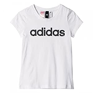 adidas YG Linear Tee Shirt, Mädchen