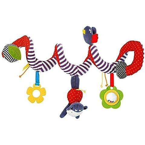 ZEARO Juguetes Colgantes Espiral de Animales para cochecitos Cunas de Peluche Veludillo con Sonidos para Bebé