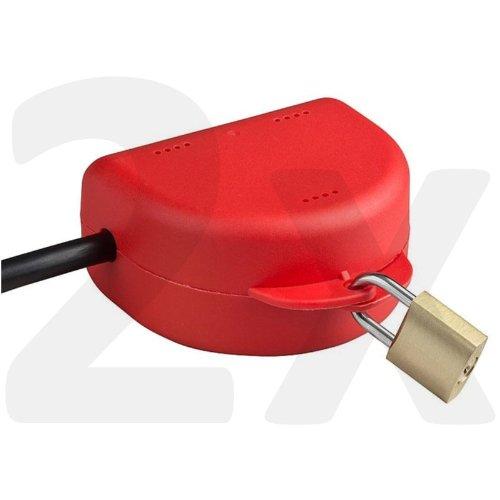 B-appliance Lock (pekarek® Steckersafe Basic - Die abschließbare Box für jeden Stecker - Jetzt mit wählbarer Farbe (Doppelpack - Rot))
