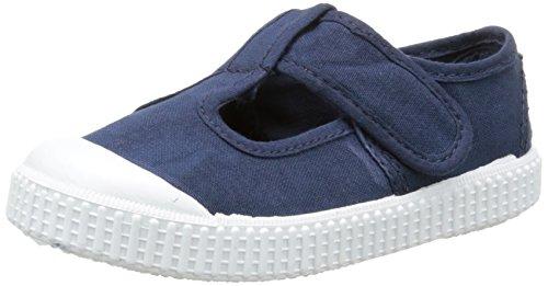 VictoriaSandalia Lona Tintada Velcro - Scarpe da Ginnastica Basse Unisex - Bambini , Blu (Bleu (30 Marino)), 28
