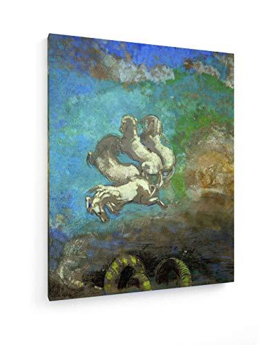Odilon Redon - Wagen des Apollo - 60x75 cm - Textil-Leinwandbild auf Keilrahmen - Wand-Bild - Kunst, Gemälde, Foto, Bild auf Leinwand - Alte Meister/Museum (Griechischer Gott Wagen)