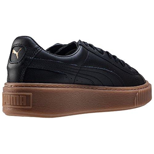 Puma Damen Basket Platform Core Sneaker Schwarz (puma Nero-puma Nero)