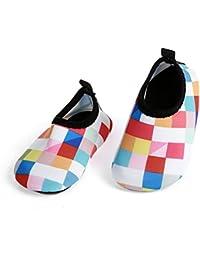 JIASUQI Baby Barefoot Swim Water Skin Shoes Calcetines Aqua para Piscina de natación en la Playa