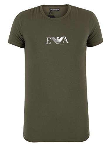 Emporio Armani Uomo Girocollo T-shirt, Verde Verde