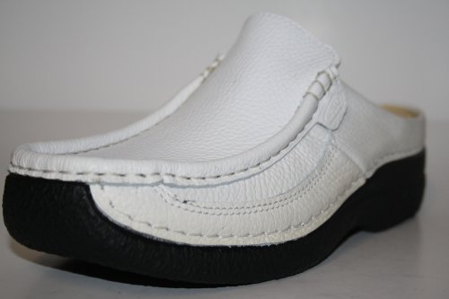 Wolky Roll Slipper 6202 Roll Slide 70100 white printed leather