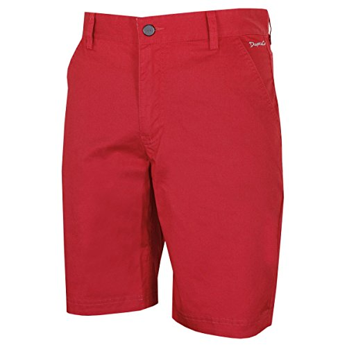 2015 Dwyers & Co Designer Titanium Chino Flat Front Mens Funky Golf Shorts Red 34