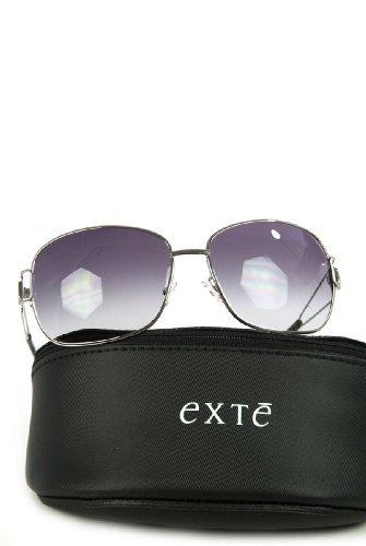 Exté Sonnenbrille EX 73601 Silber mit schwarzen Gläsern