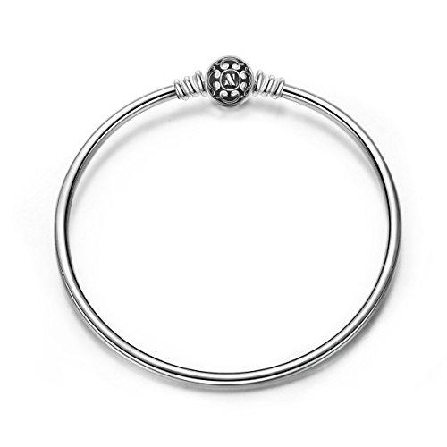 Ninaqueen bracciale da donna argento sterling 925 nero per charms bead regalo compleanno natale san valentino festa della mamma regali anniversario per moglie figlia madre