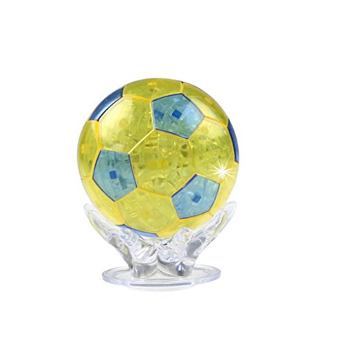 dell Kristall Puzzle DIY Gadget Blocks Building Spielzeug Geschenk Gebäude Spielzeug Geschenk (Yellow) ()
