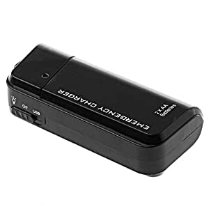 Portable USB Emergency AA Battery Powered Charger With Flashlight for Cellphone iPhone iPod MP3/MP4 player Black
