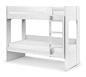 Happy Beds Ellie Bunk Bed Wooden White Frame Only 3' Single 90 x 190 cm