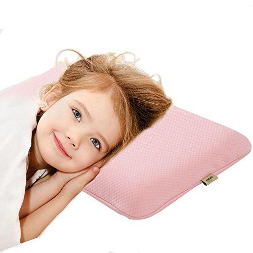 Kinder Memory Foam Kissen Kleinkind Kissen, Baby Kissen zum Schlafen Anti-flache Kopf Soft Foam Kopf Shaping Kissen für Kinder mit abnehmbarem Bezug Qutool MEHRWEG - Für Kopf-kissen Kinder