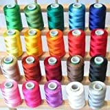 #3: Silk ( Resham) Embroidery Hand & Machine Threads Set Of 40 , Fast Colour