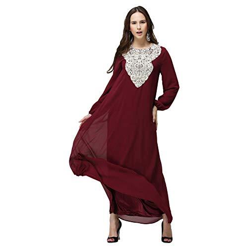 Meijunter Vestido de Mujer Musulmana - Elegante Traje Arabe Ropa Etnica Islámico de Abaya