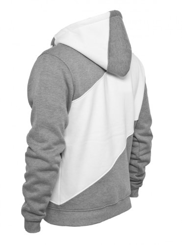 Urban Classics Zig Zag Sweat zippé à capuche pour homme Black/grey/white